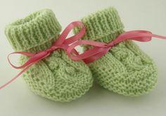 Cute Hand Knit Baby Booties Spring Green Newborn. $19.00, via Etsy. https://www.etsy.com/treasury/NTM5ODkzNXwyNzIxNTkyMTQ1/happiness-is-homemade