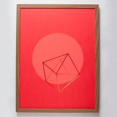 Wednesday Paper Works Auriga Siebdruck mit Rahmen (rot)