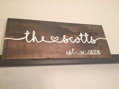 Custom Made Last Name Wood Sign with by CaitAndMelMakeThings