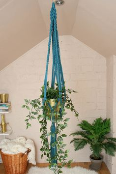 Macrame Plant Hangers, My Etsy Shop, Teal, Unique Jewelry, Handmade Gifts, Plants, Vintage, Home Decor, Kid Craft Gifts