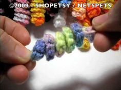 Crocheted Corkscrew Spirals Tutorial ~ I have always wanted to learn how to make these