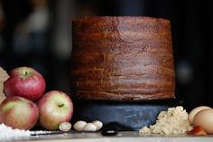 appalachian apple stack cake; molasses cake with apple butter layers