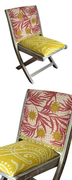 Two simple things—color and texture—have a dramatic impact on your interior décor. The Kantha Folding Chair is a delightful addition that serves as extra seating or can be used year-round. With a seaso...  Find the Kantha Folding Chair, as seen in the Under the Harvest Moon Collection at http://dotandbo.com/collections/under-the-harvest-moon?utm_source=pinterest&utm_medium=organic&db_sku=115284