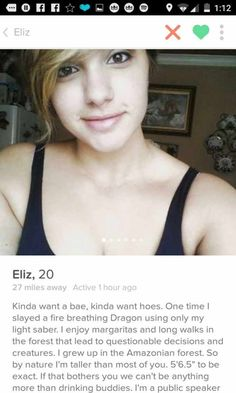 Ridiculous Tinder Profiles That Will Make You Say WTF Page Of - 20 strange tinder profiles that will make you laugh