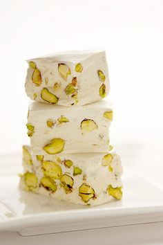 Gaz! Persian sweet with pistachio...so delicious and sooo soft!