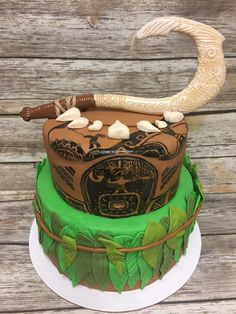 Moana (Maui) Themed cake by Alaskan Cake Walk