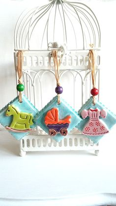 Beautiful Ornament For New Baby Decor Baby by HilalCiniCeramic