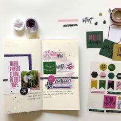 Traveler's Notebook layout by Simone Schermann (FYC Grow Wild)