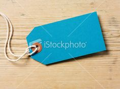 Turquoise Label and Pine Background