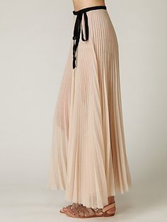 Wrapped In Pleats Maxi Skirt