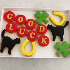 Good Luck Symbols Biscuit Box