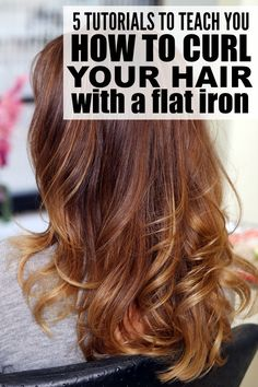 These tutorials will teach you how to curl your hair with a flat iron to get gorgeous, bouncy waves that last all day. There's a tutorial for each hair length (long hair, medium-length hair, and short hair) as well as tips to teach you how to get sexy beach waves. Good luck!
