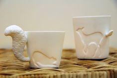 La taza en forma de ardilla, hecha por Kinto. Disponible en Amazon