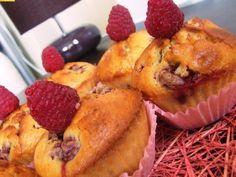Fehércsokis álom málnás muffin