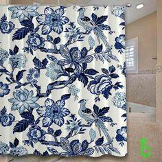 shades of blue summer Shower Curtain