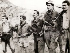 Partigiani. Italian antifascist freedom fighters. WW 2.