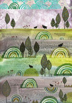 Michèle Brown Artist - The Old Cells Studio: Five blackbirds