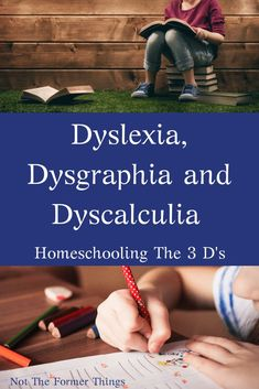 Dyslexia, Dysgraphia and Dyscalculia: Homeschooling The 3 D's - Home Schooling İdeas Dyslexia Activities, Dyslexia Strategies, Dyslexia Teaching, Learning Disabilities, Teaching Kids, Multiple Disabilities, Teaching Strategies, Learning Tips, Kids Learning
