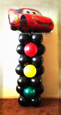 Decoración con globos de maqueen