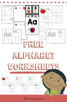 Learning the letters of the alphabet is one of the foundations of preschool life. And that's the main reason why The Teaching Aunt loves sharing her free alphabet worksheets! Alphabet Wall Cards, Alphabet Tracing, Teaching The Alphabet, Alphabet Coloring Pages, Letter Worksheets For Preschool, Sequencing Worksheets, Alphabet Worksheets, Nursery Worksheets, School Worksheets