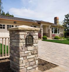 A brick mailbox can work well as a mountain remedy. Brick Mailbox, Gazebo, Pergola, Stone Landscaping, Feng Shui, Construction, Yard, Exterior, Outdoor Structures
