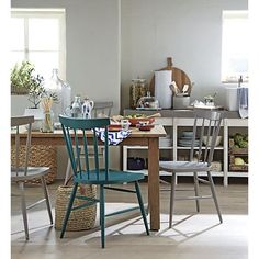 Willa Peacock Side Chair in Dining Chairs | Crate and Barrel