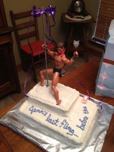Bachelorette party cake ...Homemade, with a Ken Doll! <3 http://www.mybigdaycompany.com/