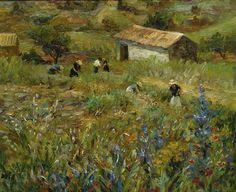 "huariqueje: ""  Collecting Flowers near Saint Paul de Vence - Marcel Dyf French, 1899-1985 Oil on canvas, 60 x 73 cm. (23.6 x 28.7 in.) """