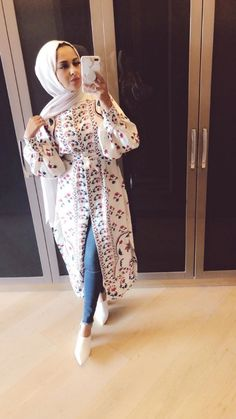 96 Wonderful Best Hijab Fashion Summer In 2019 Hijab Fashion Summer, Abaya Fashion, Muslim Fashion, Modest Fashion, Fashion Outfits, Hijab Style Dress, Casual Hijab Outfit, Hijab Chic, Casual Dresses