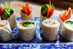 Vegetable tortilla roll-ups