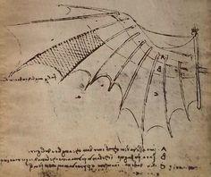 Leonardo da Vinci.Aparatos voladores.Copia de 1934. CastafioreOldPrints,