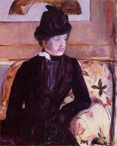 Mrs. Gardner Cassatt in Black, 1880  Mary Cassatt