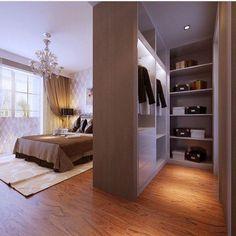 Creative Bedroom Wardrobe Design Ideas That Inspire Wardrobe Design Bedroom, Bedroom Wardrobe, Master Bedroom, Open Wardrobe, Bedroom Brown, Bedroom Designs, Wardrobe Ideas, Master Suite, Home Decor Bedroom
