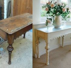 Chalk paint tutorial -  before and after
