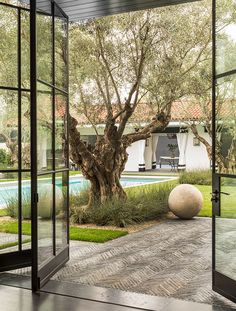 Modern Design Out Of Doors Outdoor Rooms, Outdoor Gardens, Outdoor Living, Indoor Outdoor, Backyard Patio, Backyard Landscaping, Exterior Design, Interior And Exterior, Interior Ideas