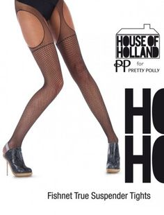 4faf7770759cd Pretty Polly | Shop je favoriete Pretty Polly panty's en kousen online. House  of Holland - Fishnet True Suspender ...