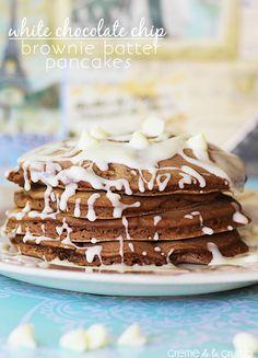 White Chocolate Chip Brownie Batter Pancakes!
