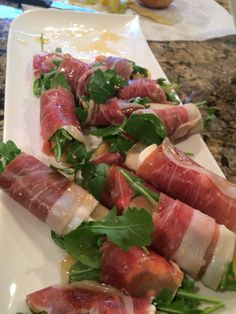 After a three day study we delighted some clients with these arugula, goat cheese, pear, and honey prosciutto wraps. #healthymind