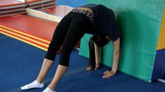 Love that he teaches the proper way to finish!  Back Walkover Drills | Gymnastics Lessons
