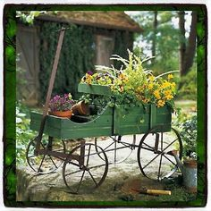 Plant Stands Patio Wagon Showcase Flowers Wood Pot Stand Cart Planter Garden