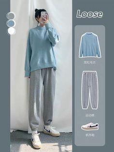 Korean Outfit Street Styles, Korean Fashion Casual, Korean Girl Fashion, Korean Street Fashion, Ulzzang Fashion, Korea Fashion, Korean Outfits, Kpop Fashion Outfits, Winter Fashion Outfits