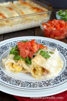 Chicken Bacon Alfredo Enchiladas - these spicy chicken and bacon enchiladas have become a family favorite meal