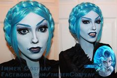 Female Hades cosplay makeup