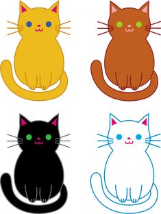 """Free clip art of kittens to use for """"Three Little Kittens"""" rhyme"""