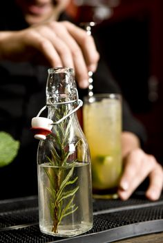 James Trevillion shows you how to mix a Rosemary Rum Mule