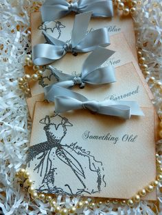 Bride Cards Something Old/New/Borrowed/Blue Silver by ifiwerecards, $16.00