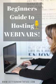 Beginners guide to hosting webinars for your creative business.