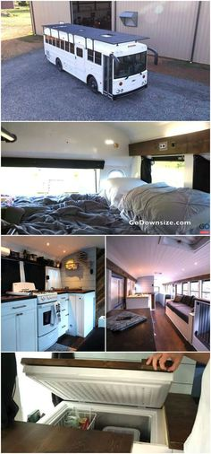 Techy Couple Convert School Bus into Modern Tiny House and Escape the 9-5 - Zack and Annie are a couple that were living in Arkansas who dreamed of living a life that allowed them to travel the country instead of spending most days at a desk from 9 to 5, Monday through Friday. After securing jobs that allowed them to work remotely, the couple started doing research about converting school buses into tiny houses and decided that was the best plan for them. After finding a 2001 Thomas HDX…