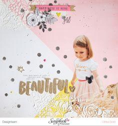 Zwei neue 'Carousel' Layouts (think pink & mint) Scrapbook Journal, Baby Scrapbook, Scrapbook Paper Crafts, Scrapbook Pages, Scrapbook Layout Sketches, Scrapbooking Layouts, Digital Scrapbooking, Project Life, Paper Bag Album