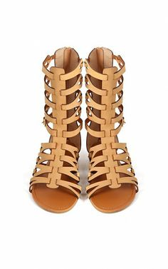 Bamboo Sawyer-03 Caged Gladiator Sandals